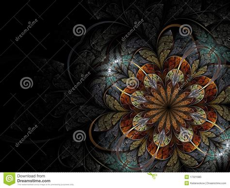 colorful fractal flower stock photo image 17321980