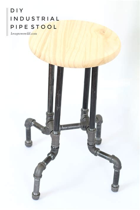 kitchen furniture ideas diy industrial pipe stools grows