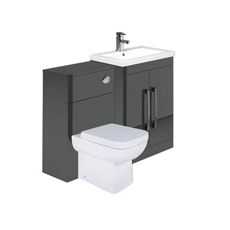 newton anthracite grey combination bathroom vanity units