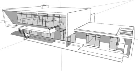 split floor plan house plans modern architectural drawings houses building plans