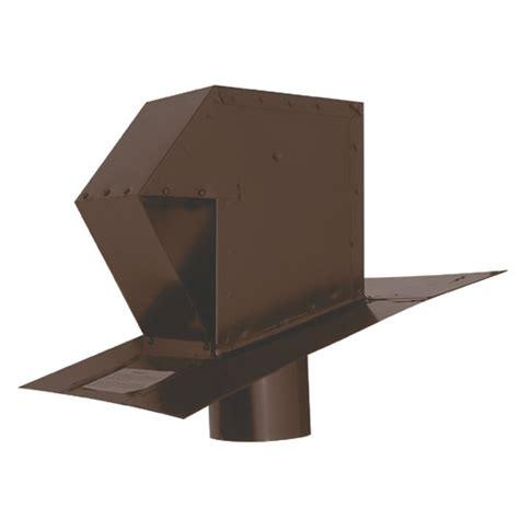 sortie de toit hotte de cuisine évent de toit en acier galvanisé 4 quot brun rona