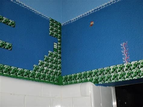 Super Mario Bros Bathroom Perfectly Painted Plumber