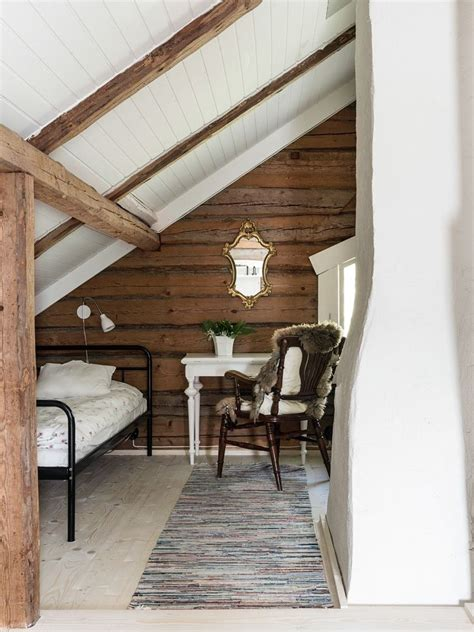 finishing  attic space love  exposed beams