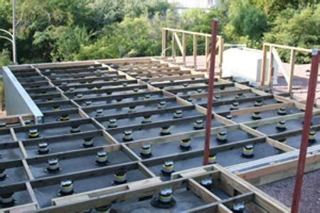 rooftop deck leveling system google search roof roof deck deck framing rooftop deck