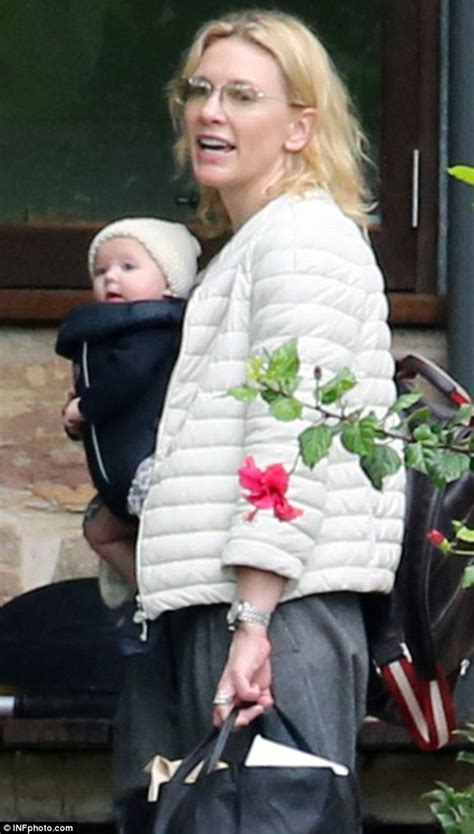 held fans bulk cate blanchett carries baby in a sling during at
