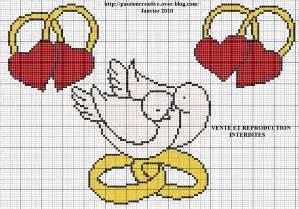point de croix mariage grille gratuite point de croix mariage colombes creative