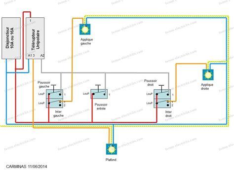 schéma électrique branchement éclairage chambres