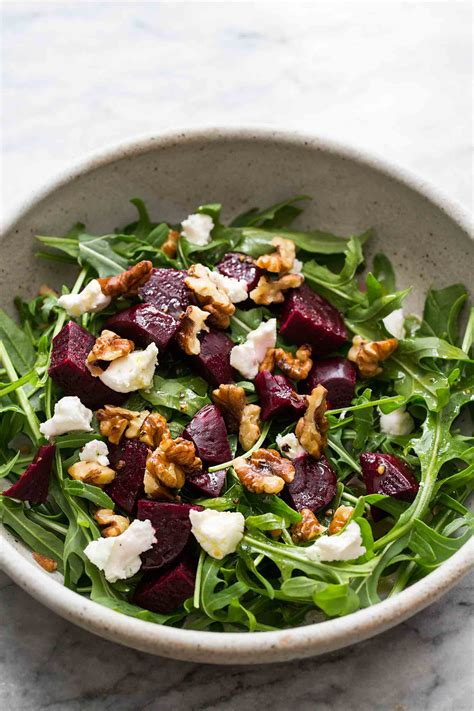 cuisine creole arugula salad with beets and goat cheese recipe