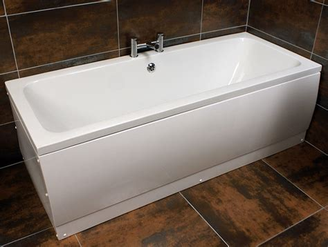 Jenny 1700 X 700mm Bath Double Ended Square Centre Tap