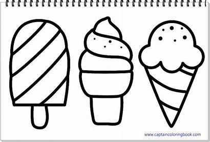 Ice Cream Coloring Pages Drawing Title