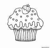 Coloring Muffin Cupcakes Cupcake Kleurplaat Verjaardag Clipart Strawberry Kleurplaten Draw Zum Nicht Az Eten Cliparts Chocolate Gubik Sweets Eva Een sketch template