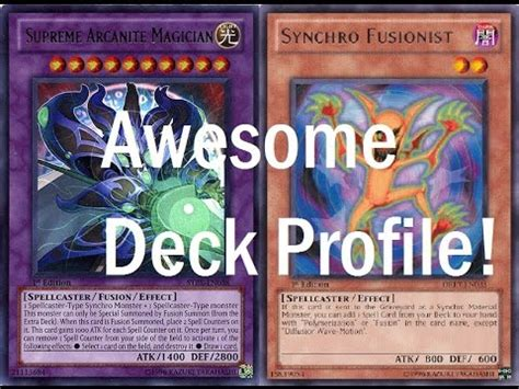 Arcanite Magician Deck Otk by Supreme Arcanite Magician Synchro Fusionist Deck Profile