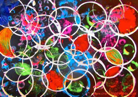 circle print art craft ideas  kids