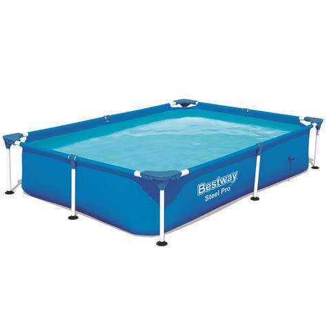 vidaXLcouk  Bestway Steel Pro Rectangular Swimming Pool
