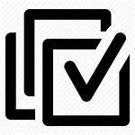 Icon Select Check Icons Mark Data Software