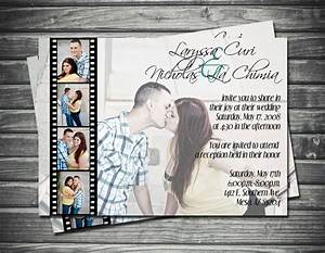 17 best images about wedding invitations on pinterest With photo film wedding invitations