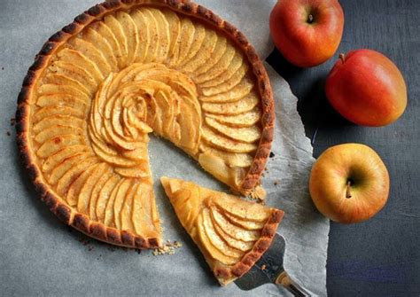 tarte aux pommes compote maison la tarte aux pommes il 233 tait une fois la p 226 tisserie