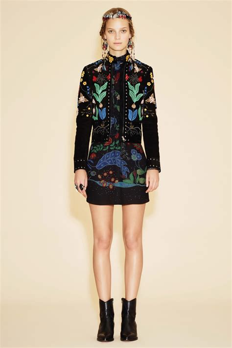 guccy dress valentino resort 2016 collection featuring bold colors and