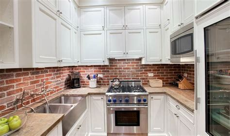 brick backsplash in kitchen brick backsplash home design