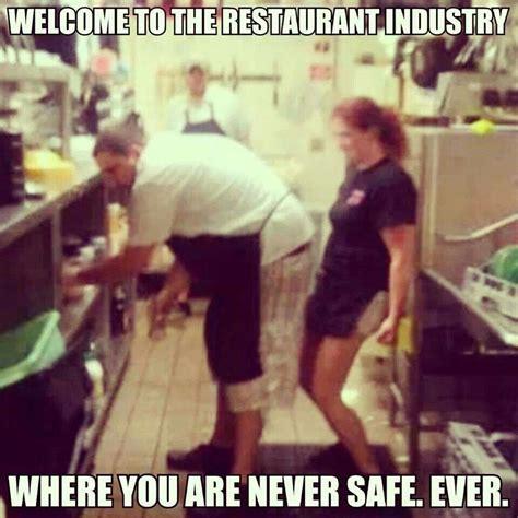 server restaurant humor funny quotes waitress memes problems chef meme never kitchen food restaurants service lol safe campbell kim worker