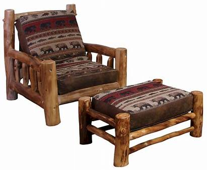 Log Rustic Chair Aspen Futon Furniture Ch