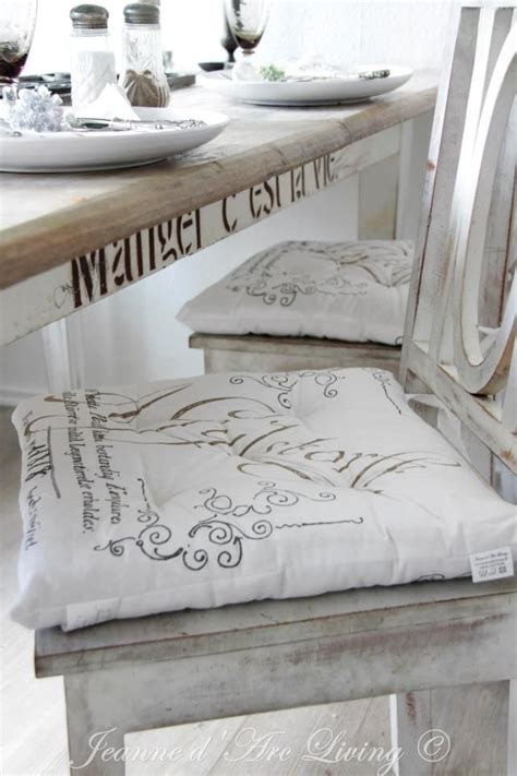 Shabby Chic Dining Room Chair Cushions by Chair Pillows Dining Room White Grey Black Chippy