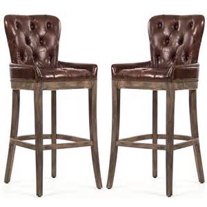 cottage kitchen islands tufted leather bar stools rustic retreat
