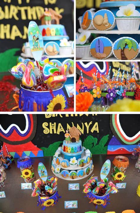 karas party ideas hawaiian themed  birthday pool