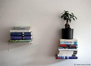 Bücherregal Selber Bauen Kreativ : unsichtbares b cherregal selber bauen komplette anleitung ~ Markanthonyermac.com Haus und Dekorationen