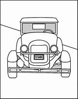 Coloring Cars Colouring Hag Sheets Printable Antique Template Library Clipart Popular sketch template