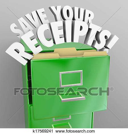 clipart  save  receipts file cabinet tax audit