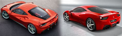 ferrari 488 vs 458 new 2015 ferrari 488 gtb vs 458 italia side by side