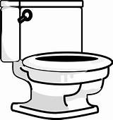 Bathroom Coloring Clipart Toilet Lid Seat sketch template