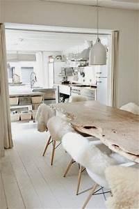 Les 25 meilleures idees concernant table bois brut sur for Idee deco cuisine avec deco de table scandinave