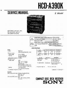 Sony Hcd-a390k Service Manual