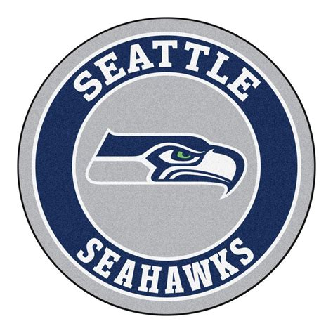 fanmats nfl seattle seahawks navy 2 ft 3 in x 2 ft 3 in accent rug 17975 the home depot