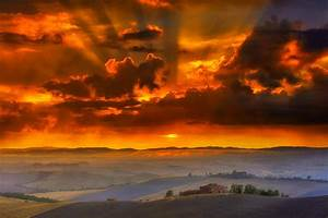 Tuscany Sunset Of Including Tuscan Granite Pictures - Artenzo
