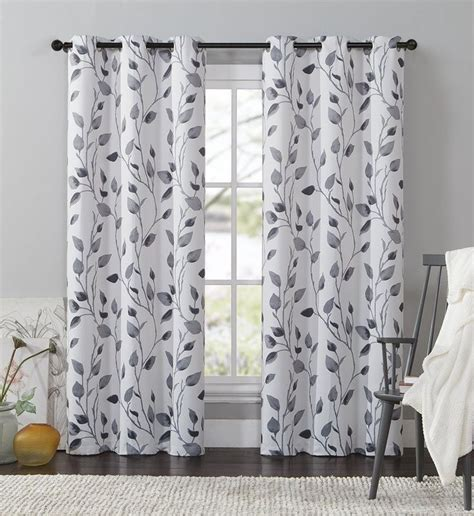 amazoncom vcny leaf printed blackout panel