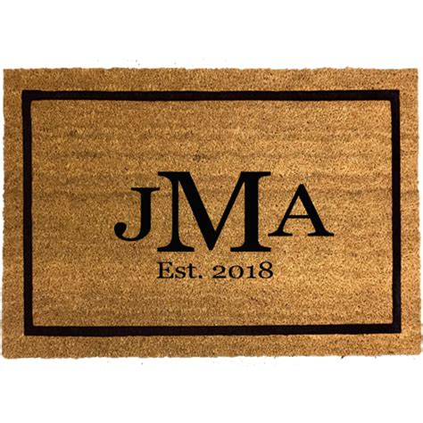 Personalized Doormat Company by Personalized Coco Coir Doormats From The Personalized