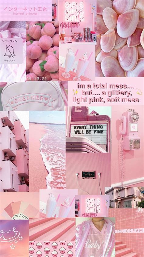 warna pastel gambar aesthetic pink