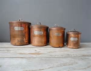 kitchen canisters set of copper nesting kitchen canisters