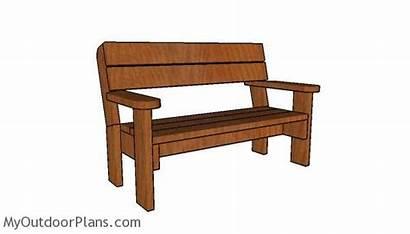 Bench Plans Garden 2x6 Diy Myoutdoorplans Projects