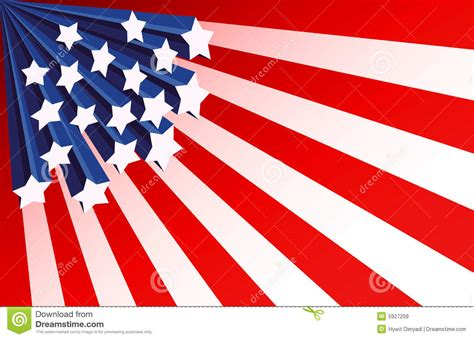 Stars And Stripes Background Stock Vector Illustration