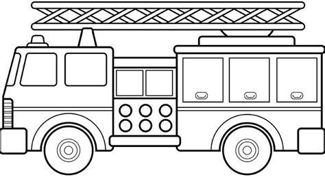 disegni da colorare camion dei pompieri semplice camion dei pompieri da colorare disegni da