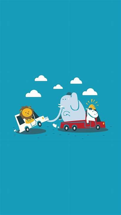 Iphone Funny Wallpapers Cartoon Phone Elephant Screensavers