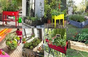 comment realiser un petit potager elle decoration With idees amenagement jardin exterieur 3 20 jolis petits balcons joli place