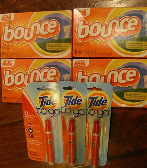 bounce outdoor fresh dryer sheets fabric softener tide to