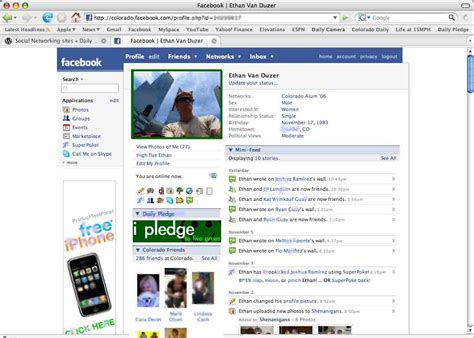A Sample Facebook Page