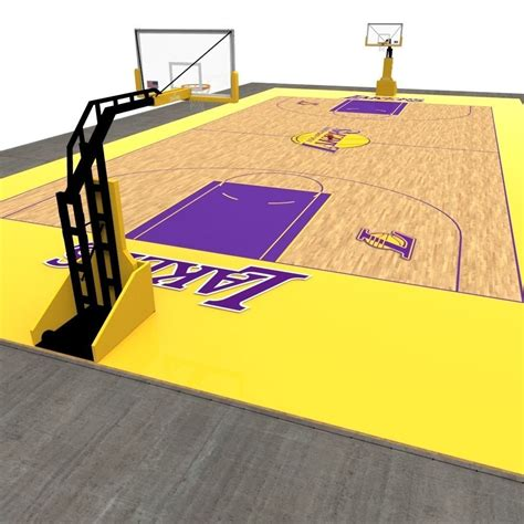 model basketball court vr ar  poly fbx