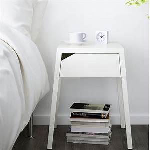 Table De Chevet Blanche Ikea : table de nuit nos conseils pour bien la choisir marie claire ~ Nature-et-papiers.com Idées de Décoration